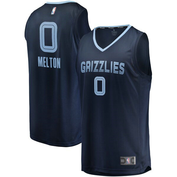 Maillots Homme De'Anthony Melton 0 Icon Edition nba Memphis Grizzlies Bleu marin