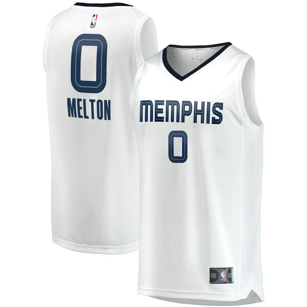 Maillots Homme De'Anthony Melton 0 Association Edition nba Memphis Grizzlies Blanc