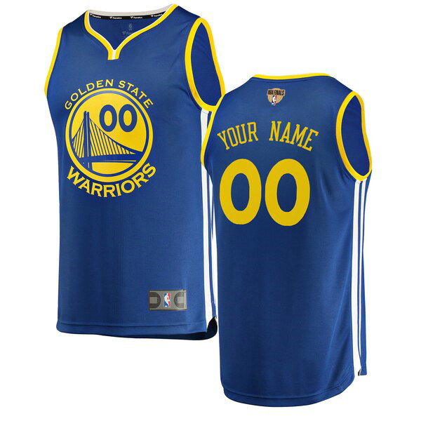 Maillots Homme Custom 0 2019 Icon Edition nba Golden State Warriors Bleu