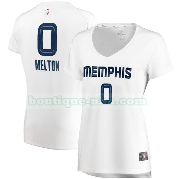 Maillots Femme De'Anthony Melton 0 association edition nba Memphis Grizzlies Blanc