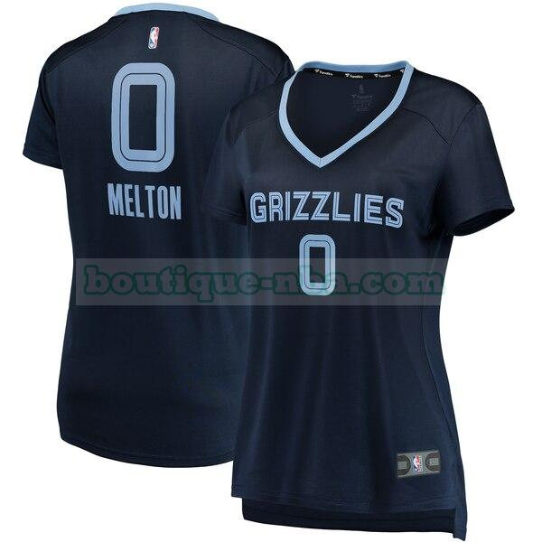 Maillots Femme De'Anthony Melton 0 icon edition nba Memphis Grizzlies Bleu marin