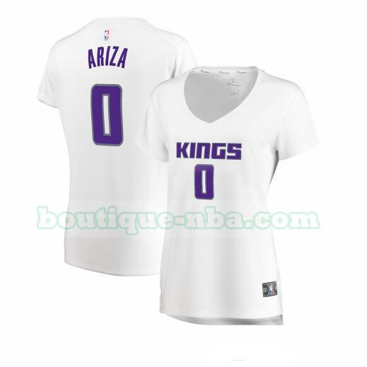 Maillots Femme Trevor Ariza 0 association edition nba Sacramento Kings Blanc