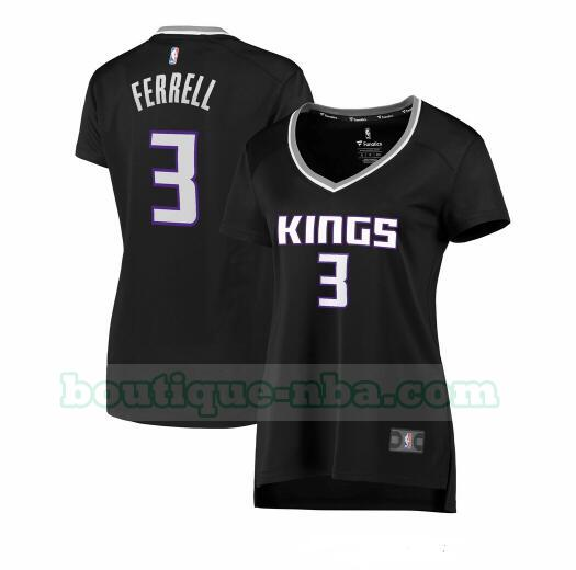 Maillots Femme Yogi Ferrell 3 statement edition nba Sacramento Kings Noir