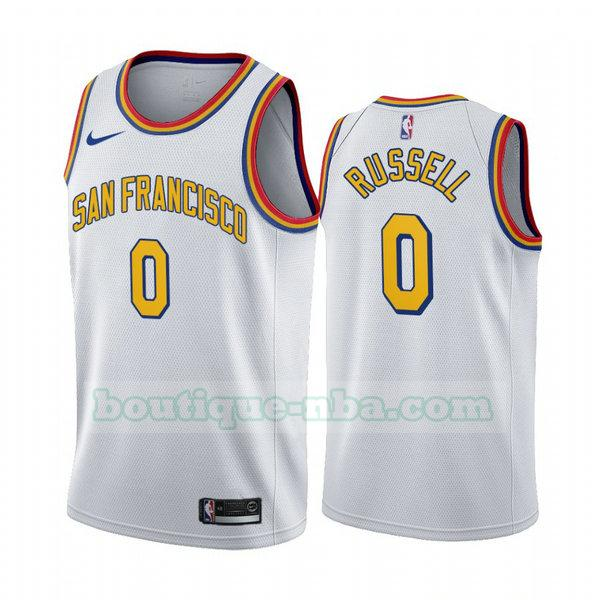 Maillots Homme D'angelo Russell 0 2020-21 saison déclaration nba Golden State Warriors blanc