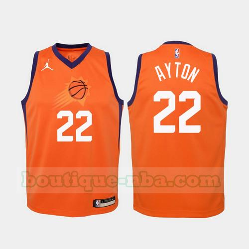 Maillots Homme Deandre Ayton 22 2020-21 Statement nba Phoenix Suns Orange