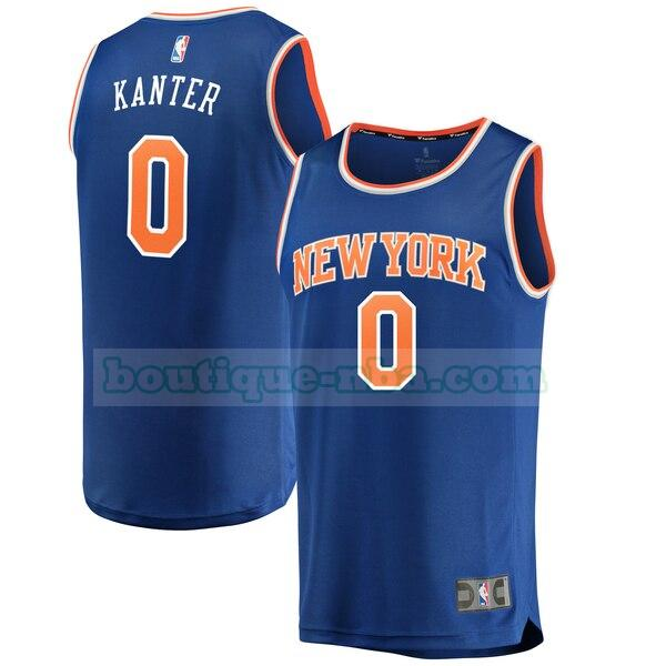 Maillots Homme Enes Kanter 0 icon edition nba New York Knicks Bleu