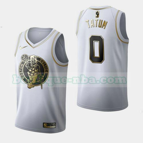 Maillots Homme Jayson Tatum 0 Independence Day Golden Edition nba Boston Celtics Blanc