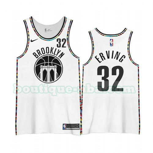 Maillots Homme Julius Erving 32 Édition City 2020-21 nba Brooklyn Nets Blanc