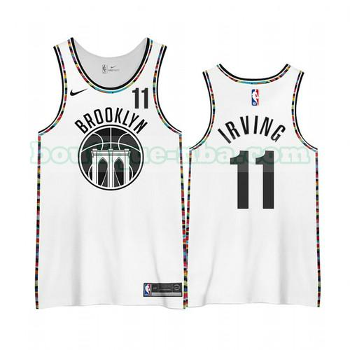 Maillots Homme Kyrie Irving 11 Édition City 2020-21 nba Brooklyn Nets Blanc