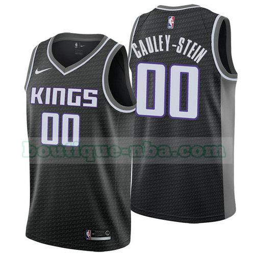 Maillots Homme Willie Cauley 0 Déclaration 2018 nba Sacramento Kings Noir