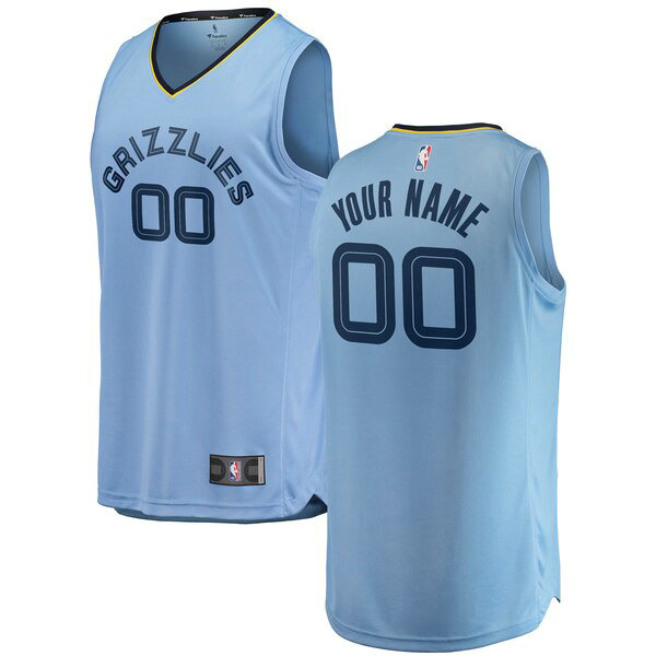 Maillots Homme Custom 0 2018-2019 Statement Edition nba Memphis Grizzlies Bleu