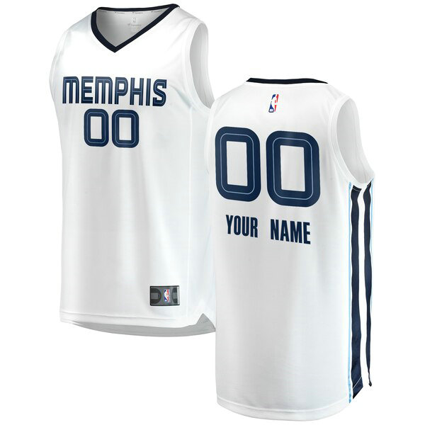 Maillots Homme Custom 0 2018-2019 Association Edition nba Memphis Grizzlies Blanc