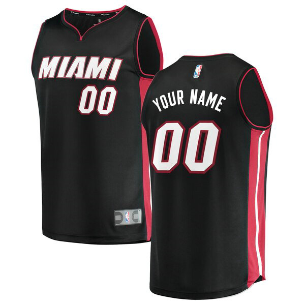 Maillots Homme Custom 0 Icon Edition nba Miami Heat Noir
