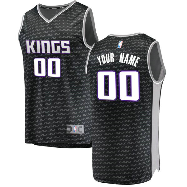 Maillots Homme Custom 0 Statement Edition nba Sacramento Kings Noir
