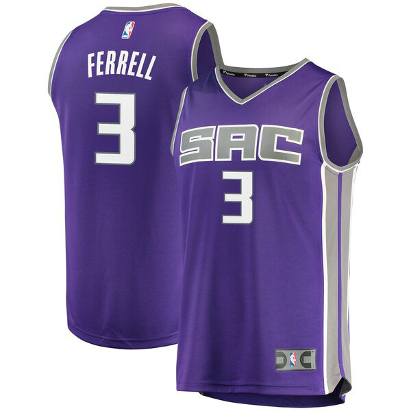 Maillots Homme Yogi Ferrell 3 Icon Edition nba Sacramento Kings Pourpre