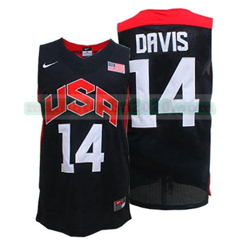 maillots Anthony Davis 14 nba usa 2012 noir
