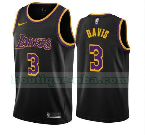 maillots Anthony Davis 3 2020-21 Earned Edition Swingman nba Los Angeles Lakers noir