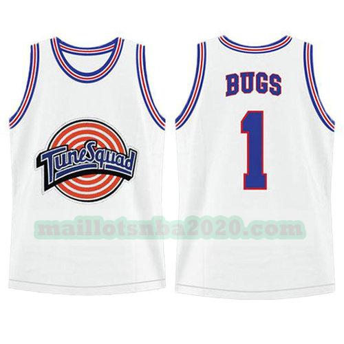 maillots Bugs Bunny 1 nba tune squad blanc