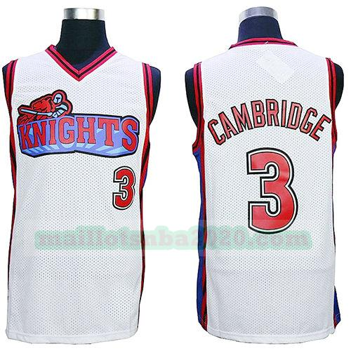 maillots Calvin Cambridge 3 knights nba pelicula blanc