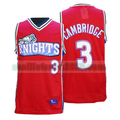 maillots Calvin Cambridge 3 knights nba pelicula rouge