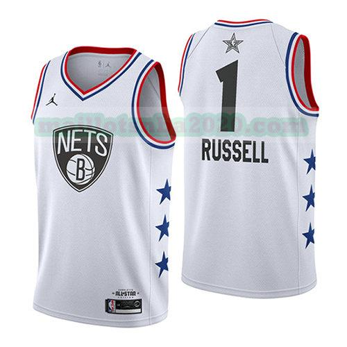 maillots Dangelo Russell 1 nba all star 2019 blanc