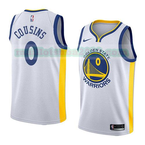 maillots Demarcus Cousins 0 association 2018-19 nba golden state warriors blanc
