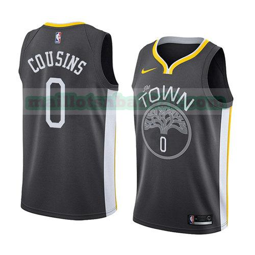 maillots Demarcus Cousins 0 déclaration 2018-19 nba golden state warriors noir