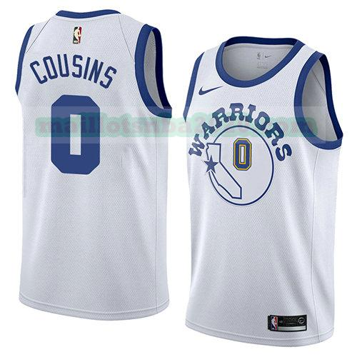 maillots Demarcus Cousins 0 hardwood classic 2018-19 nba golden state warriors blanc