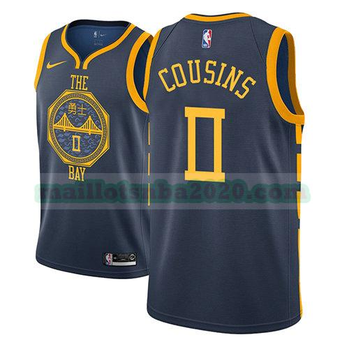 maillots Demarcus Cousins 0 ville 2018-19 nba golden state warriors bleu