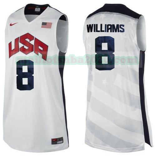 maillots Deron Williams 8 nba usa 2012 blanc