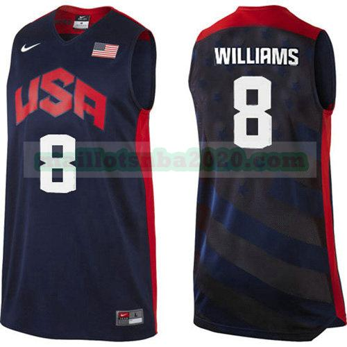 maillots Deron Williams 8 nba usa 2012 noir