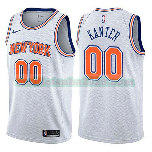 maillots Enes Kanter 0 déclaration 2017-18 nba new york knicks blanc