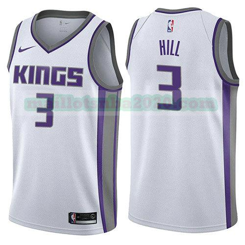 maillots George Hill 3 association 2017-18 nba sacramento kings blanc