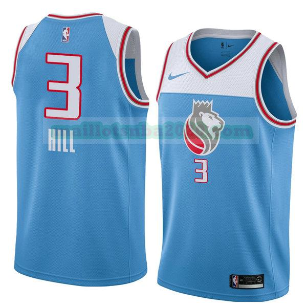maillots George Hill 3 ville 2018 nba sacramento kings bleu