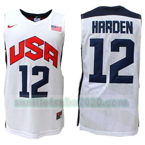 maillots James Harden 12 nba usa 2012 blanc