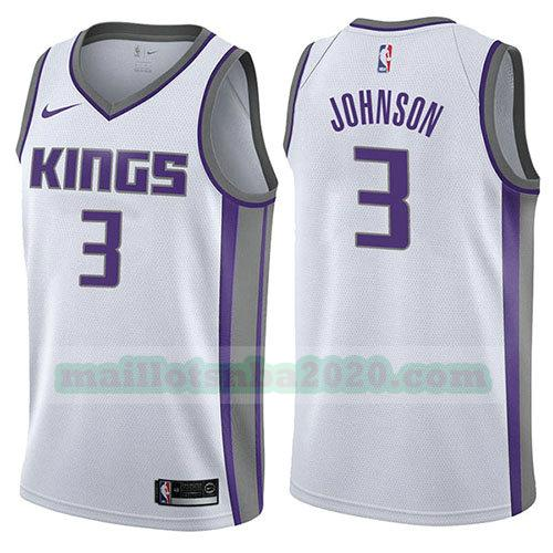 maillots Joe Johnson 3 association 2017-18 nba sacramento kings blanc