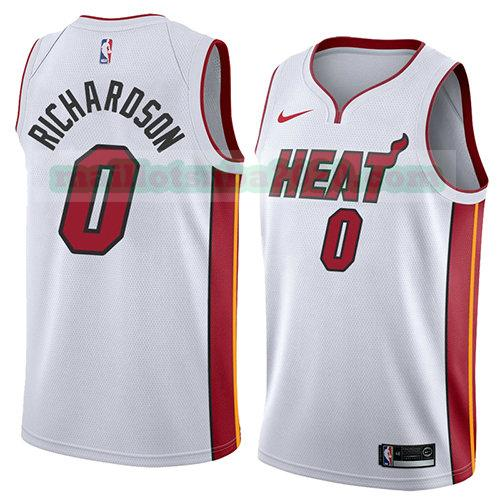 maillots Josh Richardson 0 association 2018 nba miami heat blanc