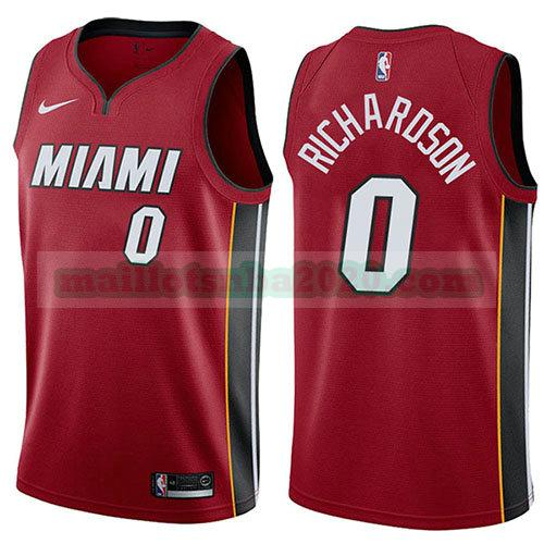 maillots Josh Richardson 0 déclaration 2017-18 nba miami heat rouge