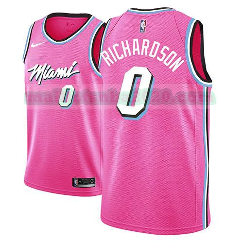 maillots Josh Richardson 0 earned 2018-19 nba miami heat rosa