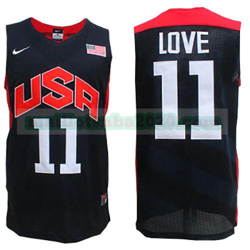 maillots Kevin Love 11 nba usa 2012 noir