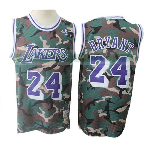maillots Kobe Bryant 24 camouflage nba los angeles lakers verde