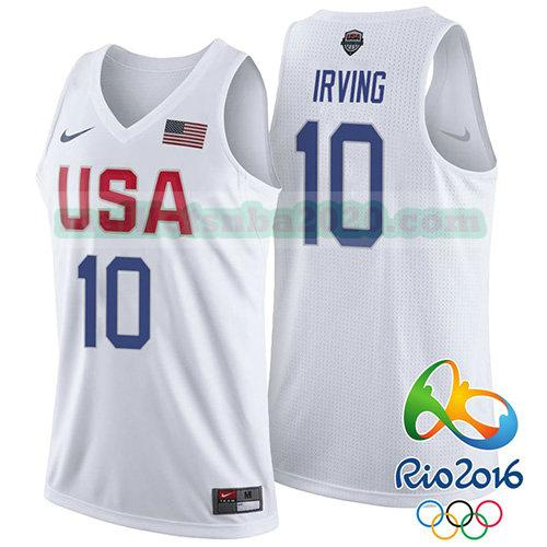 maillots Kyrie Irving 10 nba usa 2016 blanc