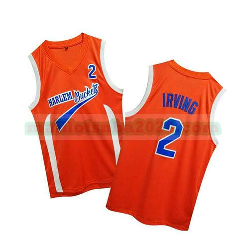 maillots Kyrie Irving 2 uncle drew nba pelicula orange