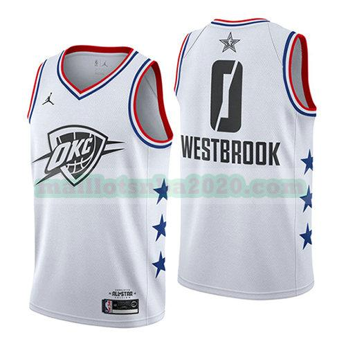 maillots Russell Westbrook 0 nba all star 2019 blanc