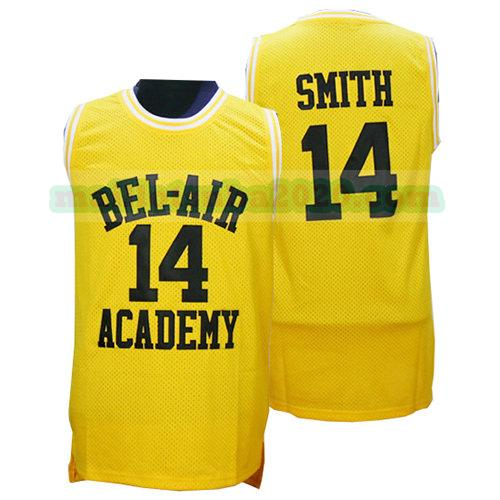 maillots Smith 14 bel-air academy nba pelicula jaune