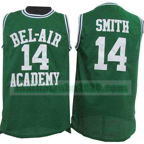 maillots Smith 14 bel-air academy nba pelicula verde