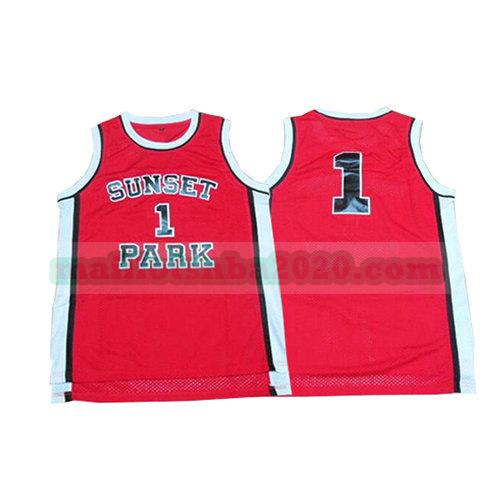 maillots Sunset Park 1 tree hill nba pelicula rouge
