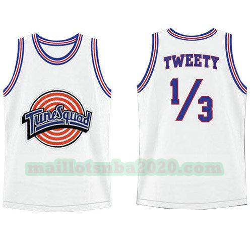 maillots Tweety 9 nba tune squad blanc