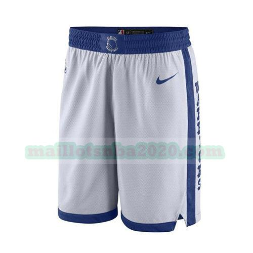 shorts 2017-18 nba golden state warriors blanc