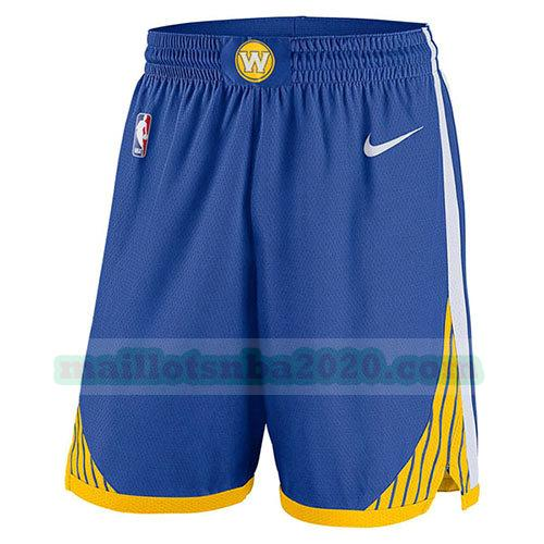 shorts 2017-18 nba golden state warriors bleu